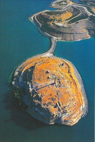 Jaabar - letecký pohled, naskenovaná pohlednice