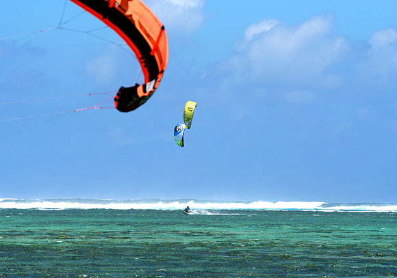 Mauricius, kitesurfing