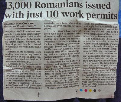 Rumuni a pracovní povolení